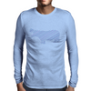 Hippo stripes Mens Long Sleeve T-Shirt