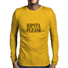 HIPSTA PLEASE BLACK Mens Long Sleeve T-Shirt