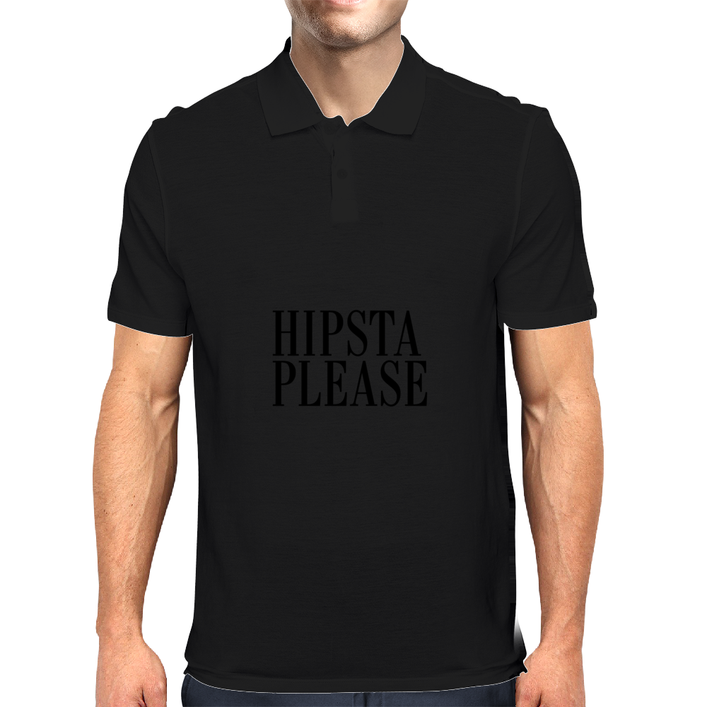 HIPSTA PLEASE BLACK Mens Polo