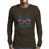 Hipster Cat Mens Long Sleeve T-Shirt