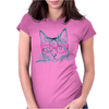 Hipster Cat Womens Fitted T-Shirt