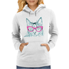 Hipster Cat Womens Hoodie