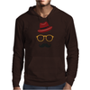 Hipster Face Mens Hoodie