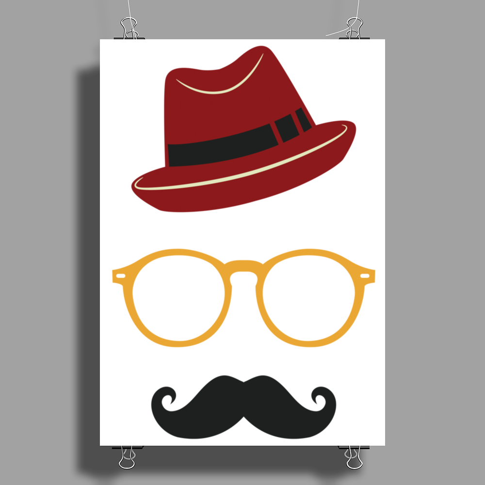 Hipster Face Poster Print (Portrait)