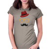 Hipster Face Womens Fitted T-Shirt