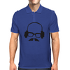 Hipster Glasses Mustache Headphones Negative Space Face Mens Polo