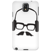 Hipster Glasses Mustache Headphones Negative Space Face Phone Case