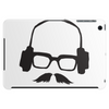 Hipster Glasses Mustache Headphones Negative Space Face Tablet (horizontal)