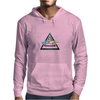 hipster triangle with flower moustache Mens Hoodie