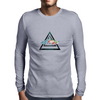 hipster triangle with flower moustache Mens Long Sleeve T-Shirt