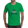 hipster triangle with flower moustache Mens T-Shirt
