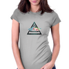 hipster triangle with flower moustache Womens Fitted T-Shirt