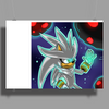 His Power within +Silver the Hedgehog+ Poster Print (Landscape)