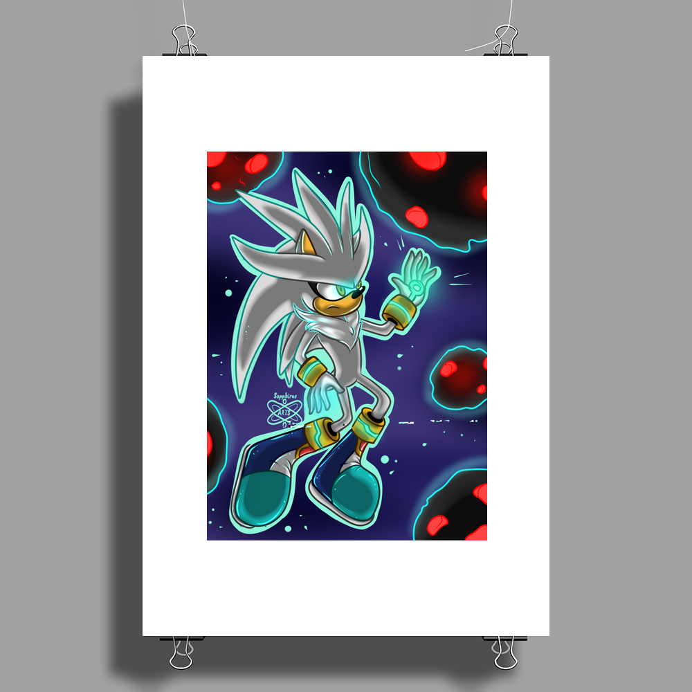 His Power within +Silver the Hedgehog+ Poster Print (Portrait)
