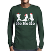 Ho Ho Ho Funny Christmas Sexy Girls Mens Long Sleeve T-Shirt
