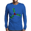 Holly Leaves with Berries Mens Long Sleeve T-Shirt