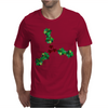 Holly Leaves with Berries Mens T-Shirt