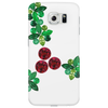 Holly Leaves with Berries Phone Case