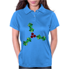 Holly Leaves with Berries Womens Polo