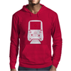 Holographic Sight Red Dot Scope White Mens Hoodie