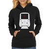 Holographic Sight Red Dot Scope White Womens Hoodie