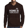 HOME IS WHERE THE WIFI FUNNY Mens Hoodie