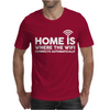 HOME IS WHERE THE WIFI FUNNY Mens T-Shirt