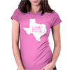 Home Texas Outline Womens Fitted T-Shirt