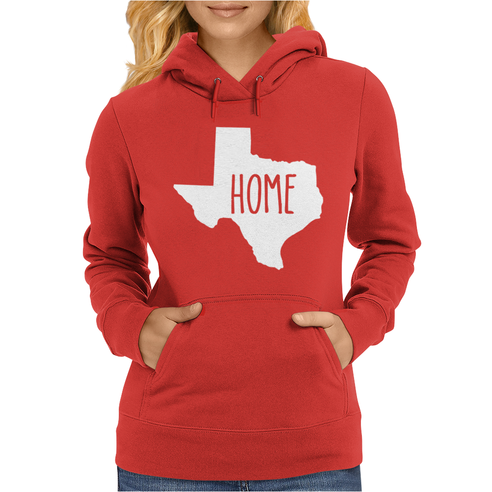 Home Texas Outline Womens Hoodie