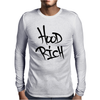 Hood Rich Typography Mens Long Sleeve T-Shirt