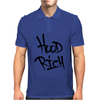 Hood Rich Typography Mens Polo