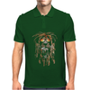 Hot 3D Print Round Mens Polo