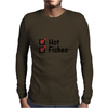 Hot and fishes Mens Long Sleeve T-Shirt
