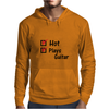 Hot and plays guitar Mens Hoodie