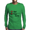 Hot and plays guitar Mens Long Sleeve T-Shirt