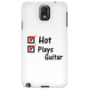 Hot and plays guitar Phone Case