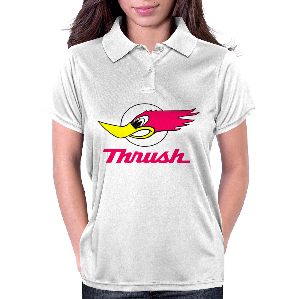 Hot Rod Gear Head Thrush Womens Polo