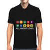 House Music All Night Long Mens Polo