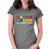 House Music All Night Long Womens Fitted T-Shirt