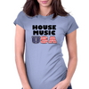 House Music USA Womens Fitted T-Shirt