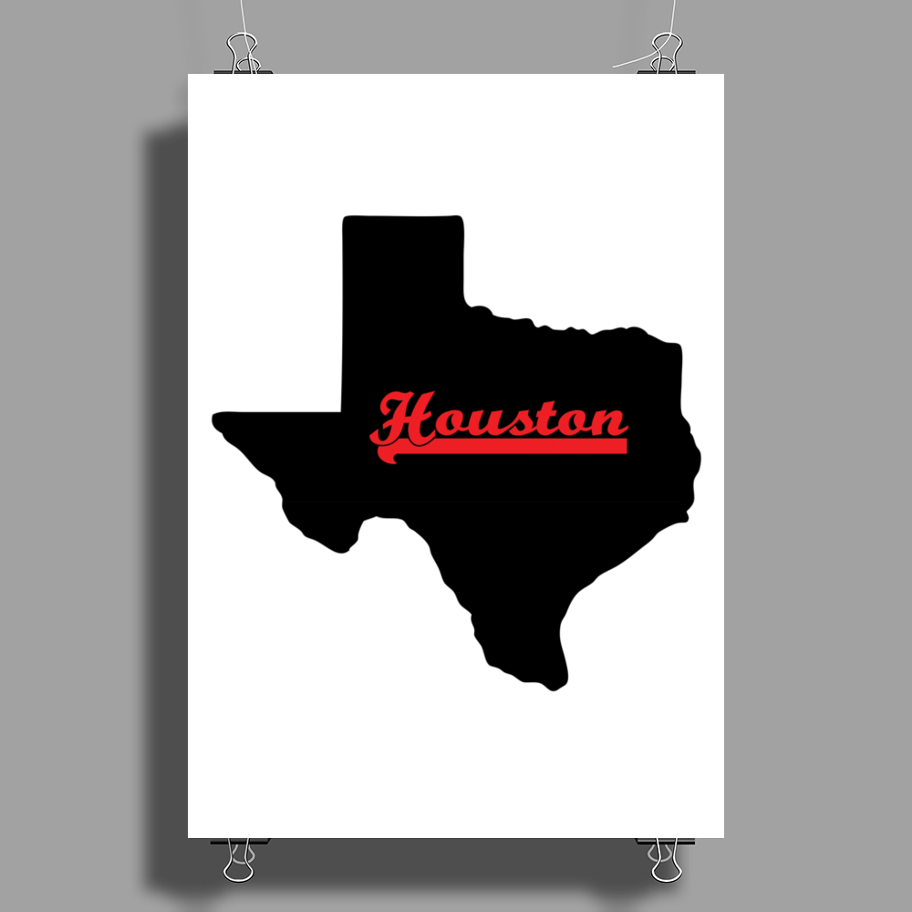Houston Texas Poster Print (Portrait)