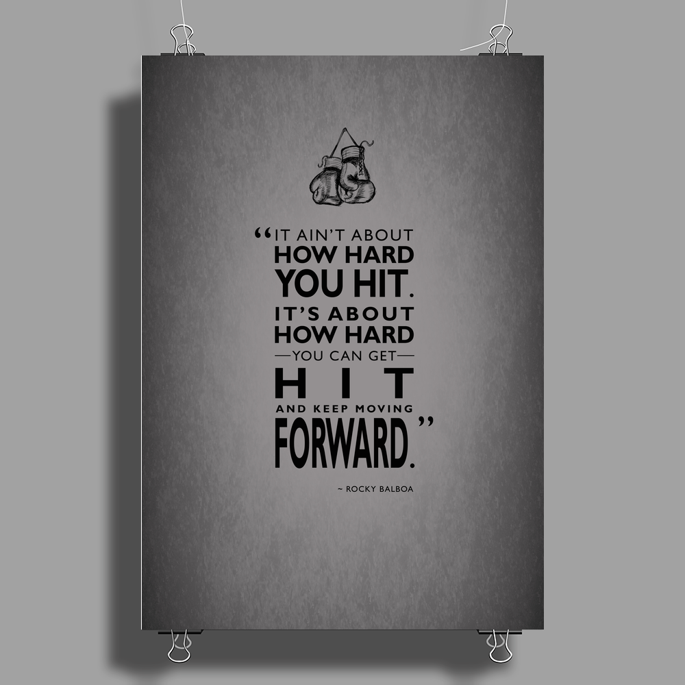 How Hard You Hit Poster Print (Portrait)