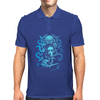 Howard Philips Lovecraft Cthulhu Blue Mens Polo