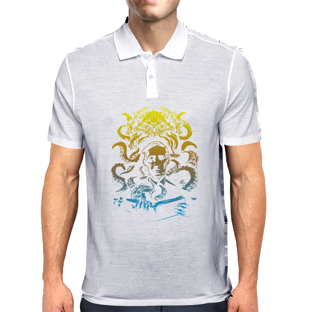 Howard Philips Lovecraft Cthulhu Yelow Mens Polo