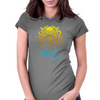 Howard Philips Lovecraft Cthulhu Yelow Womens Fitted T-Shirt