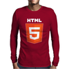 Html 5 Web Designer Computer Mens Long Sleeve T-Shirt