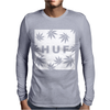 Huf White Wasted Mens Long Sleeve T-Shirt
