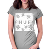 Huf White Wasted Womens Fitted T-Shirt