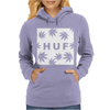 Huf White Wasted Womens Hoodie