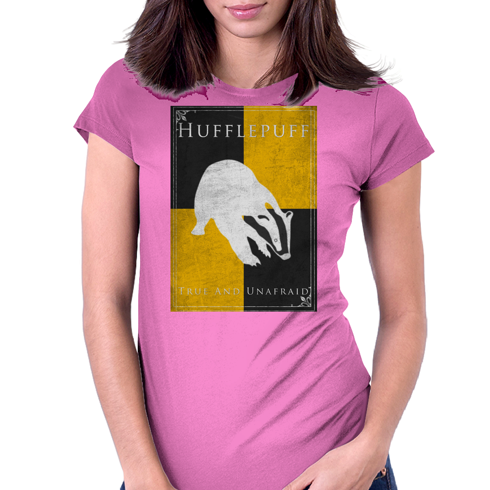 Hufflepuff Game of Thrones Banner Womens Fitted T-Shirt